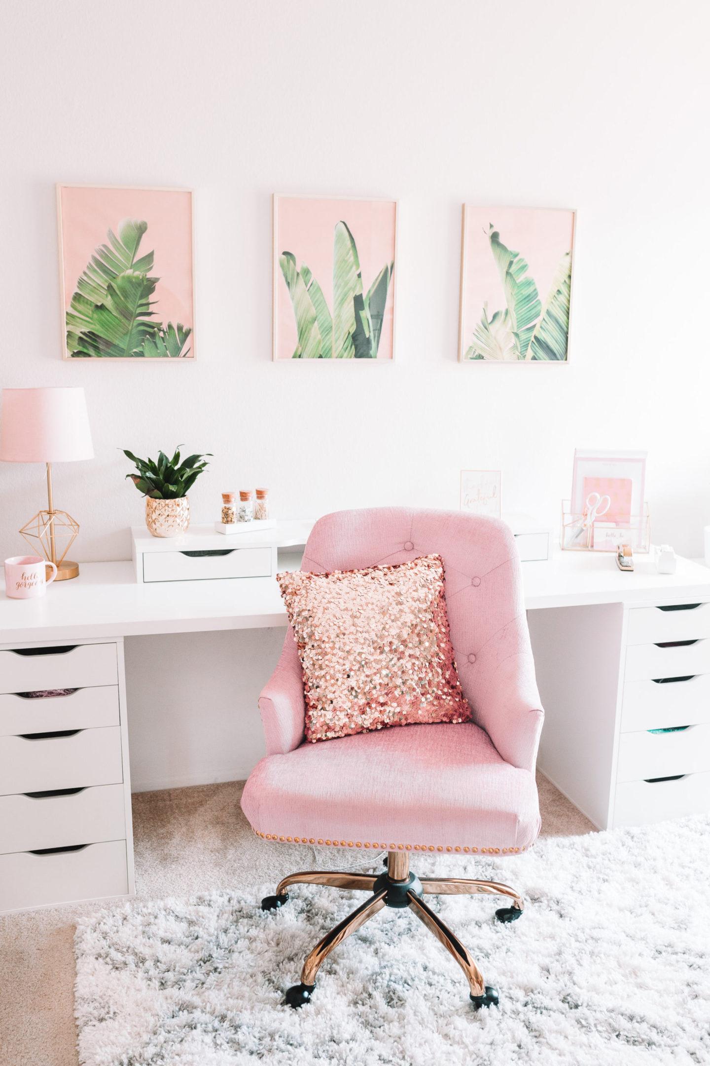 Modern Bohemian Chic Home Office Reveal Love Jen Marie